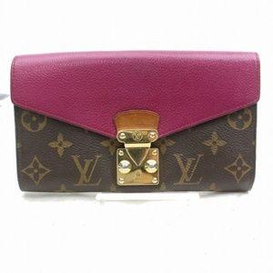 💯 Auth Louis Vuitton Portefeuille Pallas Monogram
